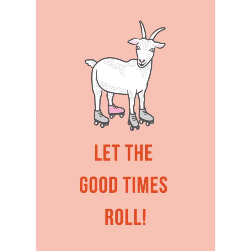 Ansichtkaart-van-gekkiggeit-met-gerrit-de-geit-en-de-tekst-let-the-good-times-roll