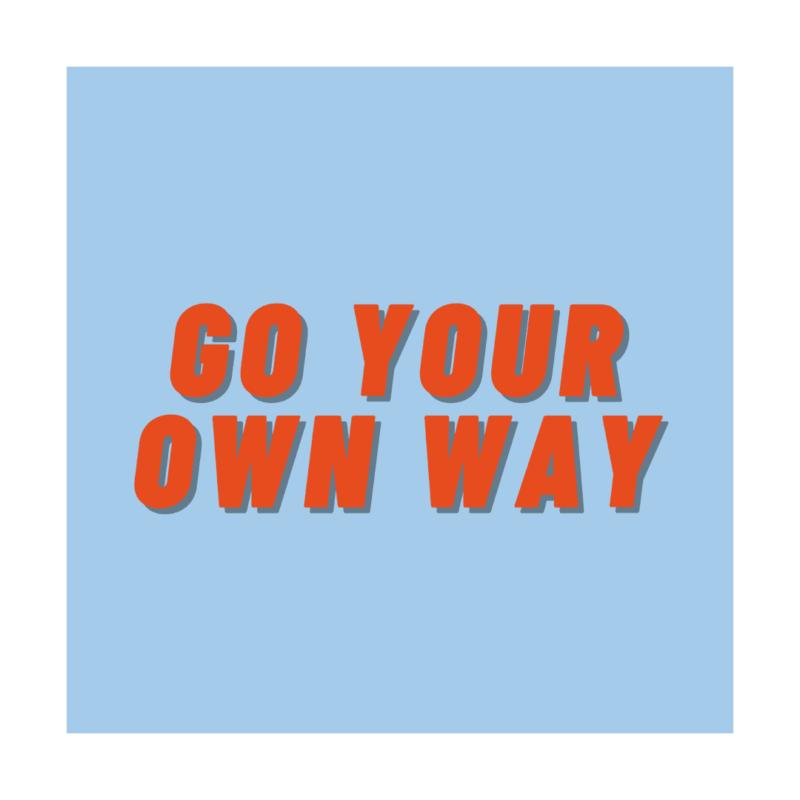 poster-van-gekkiggeit-met-de-leuke-tekst-go-your-own-way