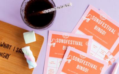 Gratis printable: songfestival bingo