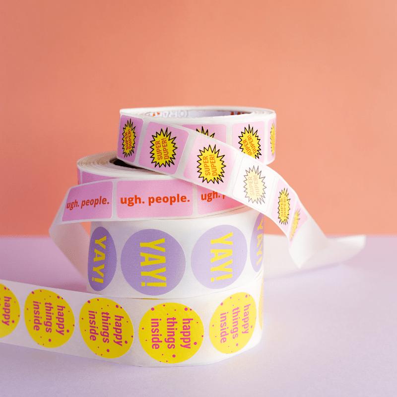 verschillende-stickers-van-gekkiggeit-ronde-sticker-rechthoekige-sticker