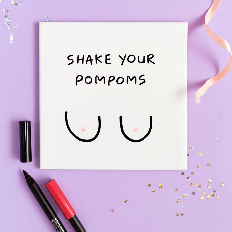 tegel-van-gekkiggeit-met-de-tekst-shake-your-pompoms