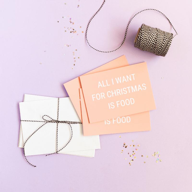 kerstkaart-van-gekkiggeit-met-de-tekst-all-I-want-for-Christmas-is-food