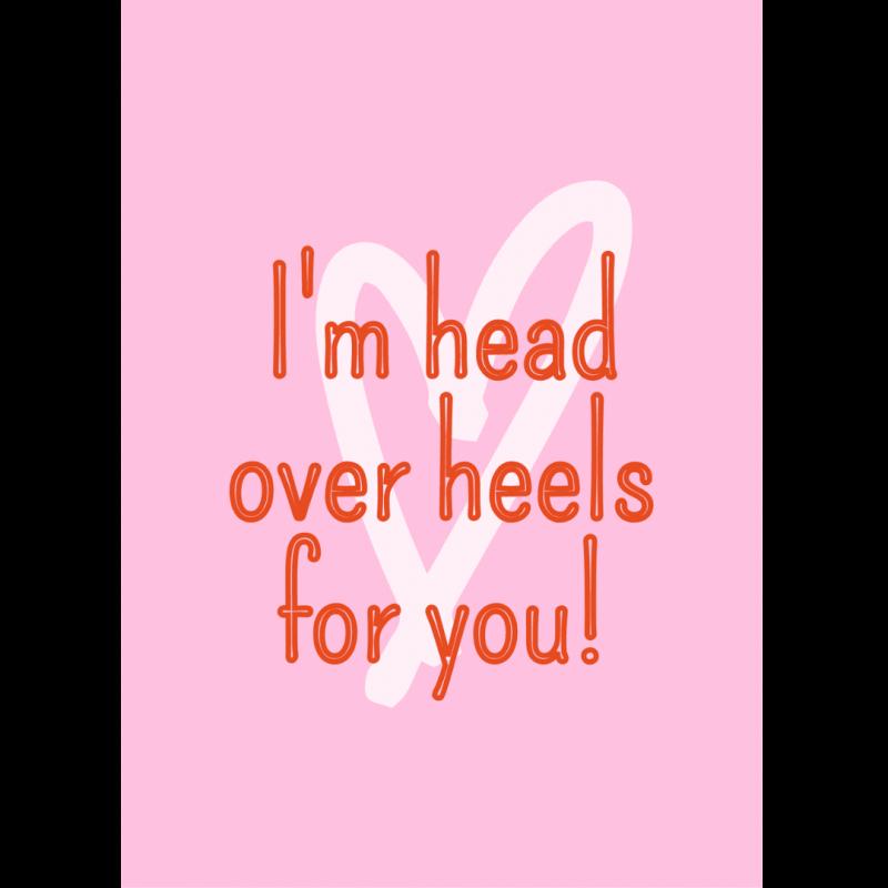 Ansichtkaart-van-gekkiggeit-met-de-tekst-i'm-head-over-heels-for-you
